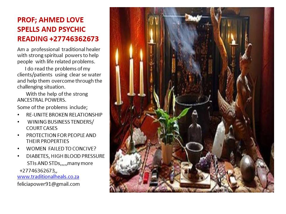 Logo of AHMED VOODOO LOVE SPELSS +27746362673 www.traditionalheals.co.za