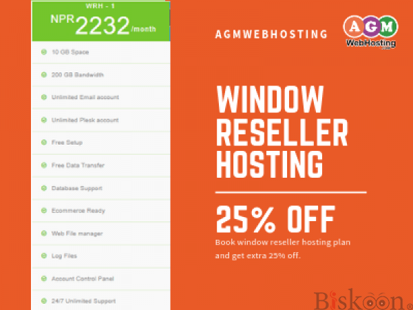 Affordable Windows Reseller Hosting Plan –AGM Web Hosting
