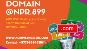 "Get a "".com"" Domain at Just NPR.899/- Only! - AGMWebHosting"