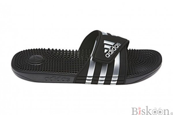 Adidas Black Adige Slides For Men - Labels Store
