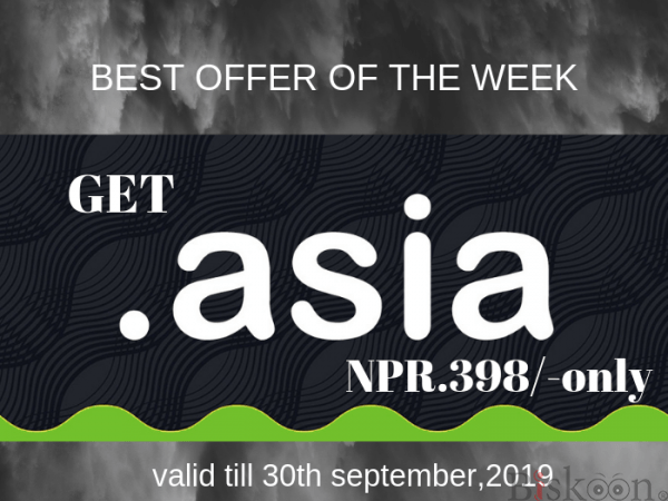 """Get a """".ASIA"""" Domain at Just NPR.398/- Only! - AGMWebHosting"""