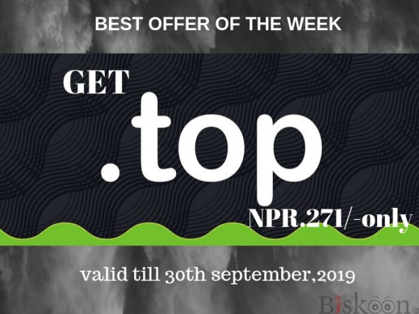 "Get a "".TOP"" Domain at Just NPR.271/- Only! - AGMWebHosting"