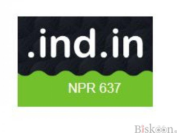 """Get a """".IND.IN"""" Domain at Just NPR.637/- Only! - AGMWebHosting"""
