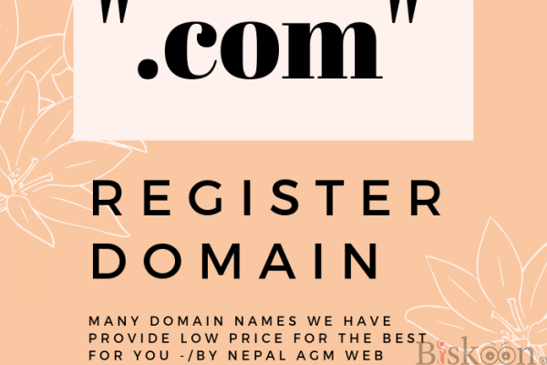 "Register domain"".com"" at Just NPR.899/-only -by nepal AGM Web Hosting"
