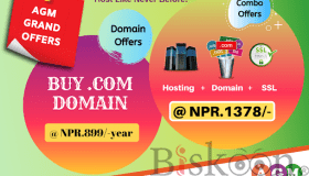 Get The AGM Grand Offer On Hosting And Domains In Nepal - Agm Web Hosting