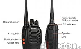 BaoFeng BF-888s Walkie Talkie 1pcs in One Box with Rechargeable Battery, Long Range 16 Channels Two Way Radio
