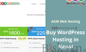 Buy WordPress Hosting in Nepal on AGM Web Hosting
