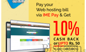 Pay Via IME and get 10% CashBack