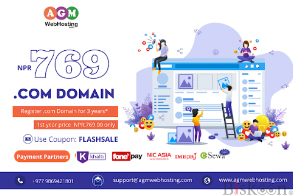 Cheapest Domain Registration Services-AGM Web Hosting (FLASHSALE)