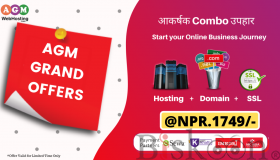 Buy combo hosting plan @NPR.1749/year only on AGM Web Hosting