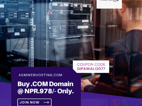 OFFERS: Buy .COM Domain at Just NPR.978