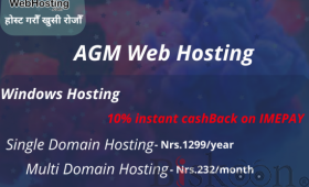 Single domain window hosting at AGM WEB HOSTING.