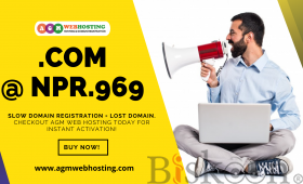 Buy .COM Domain @NPR.969/year only on AGM Web Hosting