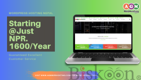 Standard  WordPress Hosting NPR 1600/year in Nepal - AGM Web Hosting