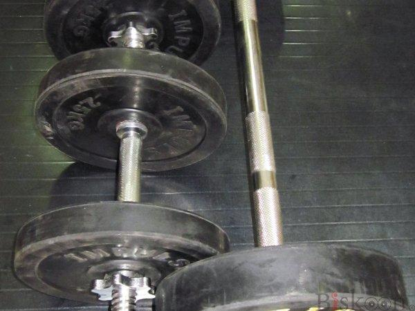 Dumbell And Barbell Set (20 Kg)